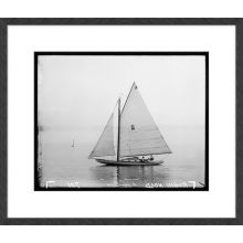 Black & White Sailboats 27.5W x 23.5H