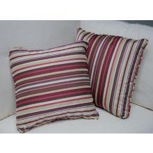Raspberry Stripe Pillow