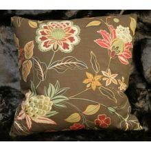 Brown Floral Pillow