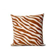 Amber Zebra Print Pillow