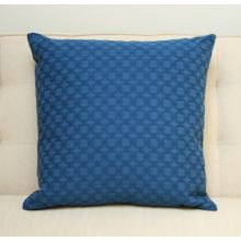 Blue Interlocking Circles Pillow