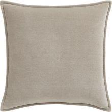Greige Velvet Pillow