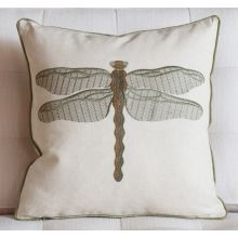 Embroidered Damselfy Pillow