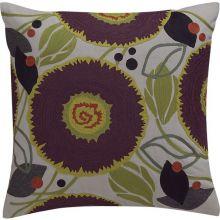 Purple Crewel Pillow