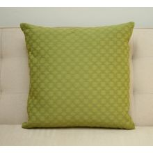 Green Interlocking Circles Pillow