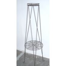 French Wire Two Tiered Plant Stand