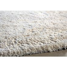 8' x 10' Off White Shag Rug