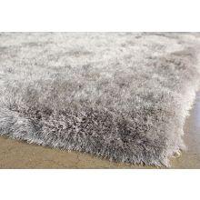 9' x 12' Light Gray Shag Rug