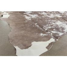 5' X 7' Cream And Light Brown Cowhide Rug