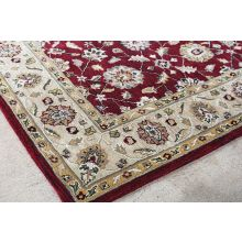 8 x 10 Brick Red and Taupe Traditional Indian Rug