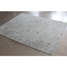 "7'9"" x 9'9"" Hand-tufted Green Spring Hill Rug"