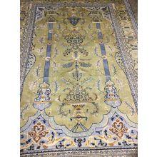 "10' x 7"" Antique Isfahan Persian Rug Circa 1940"