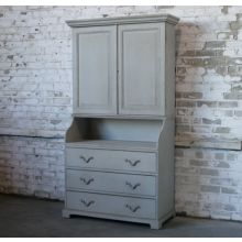 Light Green Distressed Cabinet