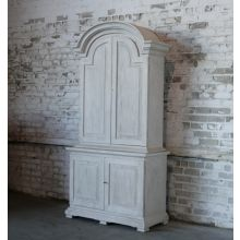 Antique White Distressed Tall Cabinet
