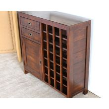 Post & Rail Wine Cabinet