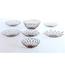 Set of 7 Assorted Wire Baskets
