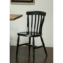 Distressed Black Farm House Dining Chair
