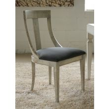 Spatula Beige Side Chair with Smoke Gray Upholstery