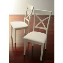 X Back Dining Chair in Shore White