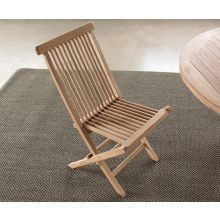 Natural Teak Folding Chair