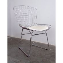 Bertoia Style Chrome Wire Side Chair
