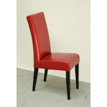 James Red Dining Chair with Black Legs