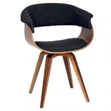 Charcoal & Walnut Bent Chair