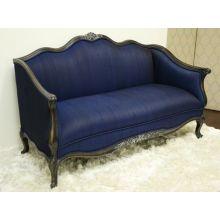 Royal Blue Eduard Settee
