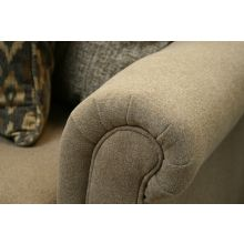 Taupe Rolled-Arm Loveseat