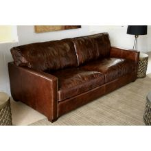 "Larkin 88"" Sofa in Cigar Leather"