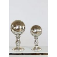 Set of 2 Antique Mercury Finials - Cleared Décor