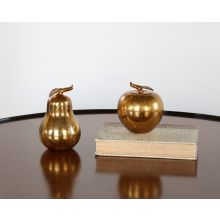 Gold Apple and Pear Set
