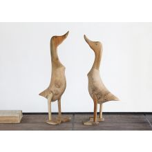 Set of 2 Wood Ducks - Cleared Décor