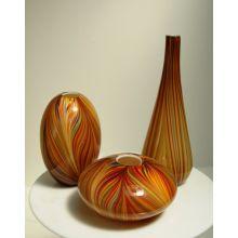 Set of 3 Orange Pucci Vases