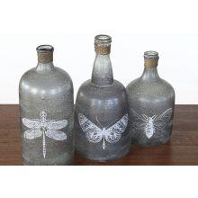Set of 3 Folly Glass Bottles