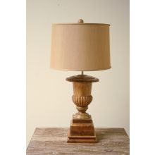 Wooden Classic Urn Table Lamp