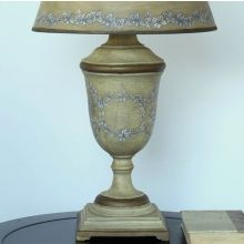 Antique Beige and Blue Urn Table Lamp