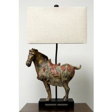 Dynasty Horse Table Lamp
