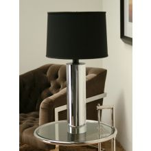 Chrome Cylinder Table Lamp