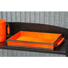 Orange Horsehair Serving Tray