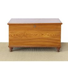 Faux Grain Painted Blanket Chest circa 1870